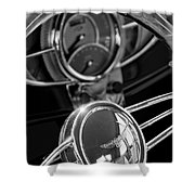 1932 Ford Hot Rod Steering Wheel 4 Shower Curtain
