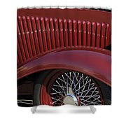 1932 Ford Hot Rod Wheel Shower Curtain