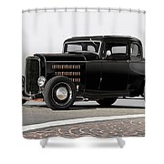 1932 Ford 'louvered' Coupe Shower Curtain