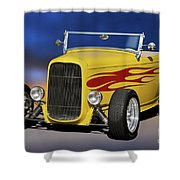1932 Ford Roadster 'hiboy' Shower Curtain