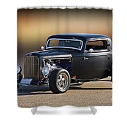 1932 Ford 'silky Satin' Coupe I Shower Curtain
