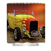 1932 Ford 'sunset' Studio' Roadster Shower Curtain