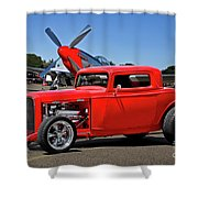 1932 Ford 'three Window' Coupe Vx Shower Curtain