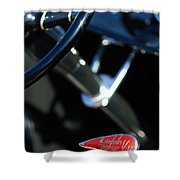 1932 Hot Rod Lincoln V12 Gear Shifter Shower Curtain