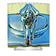 1932 Packard Hood Ornament 3 Shower Curtain
