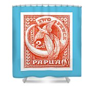 1932 Papua New Guinea Bird Of Paradise Postage Stamp Shower Curtain