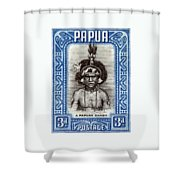 1932 Papuan Dandy Stamp Shower Curtain