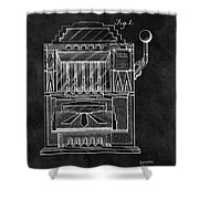 1932 Slots Patent Shower Curtain