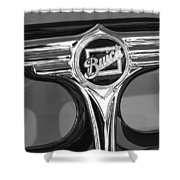 1933 Buick Victorian Emblem B And W Shower Curtain