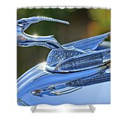 1933 Chrysler Imperial Hood Ornament 2 Shower Curtain