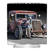 1933 Ford Pu Rat Rod II Shower Curtain
