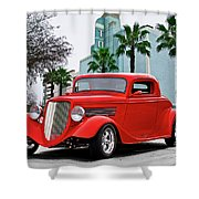 1933 Ford 'three Window' Coupe II Shower Curtain