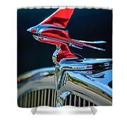 1933 Franklin Olympic Hood Ornament Shower Curtain