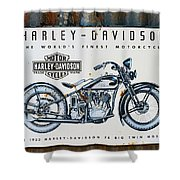 1933 Hd 74 Big Twin Shower Curtain