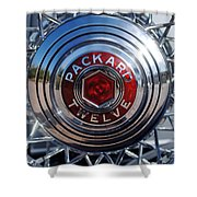 1933 Packard 12 Wheel Shower Curtain