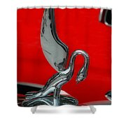 1933 Packard Goose  Hood Ornament Shower Curtain