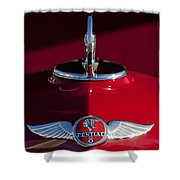 1933 Pontiac Hood Ornament 2 Shower Curtain