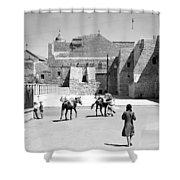 1934 And 1939 Bethlehem Nativity Church  Shower Curtain