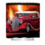 1934 Chevrolet Phaeton Convertible Shower Curtain