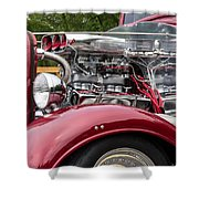 1934 Chevy Truck Motor Shower Curtain