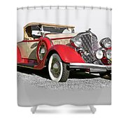 1934 Chrysler Roadster Shower Curtain
