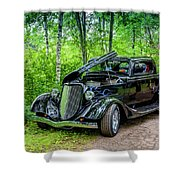 1934 Ford 3 Window Coupe Shower Curtain
