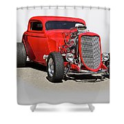 1934 Ford 'mean And Nasty' Coupe Shower Curtain