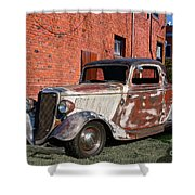 1934 Ford 'patina Plus' Coupe Shower Curtain