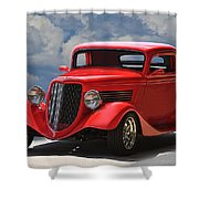 1934 Ford 'sherrys Cherry' Coupe Shower Curtain