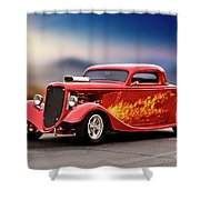 1934 Ford 'three Window' Coupe I Shower Curtain