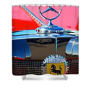 1934 Mercedes Benz 500 K Roadster Shower Curtain
