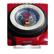 1934 Mercedes Benz 500k Roadster 8 Spare Tire Shower Curtain