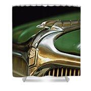 1934 Nash Ambassador 8 Hood Ornament Shower Curtain