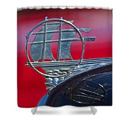 1934 Plymouth Hood Ornament 2 Shower Curtain