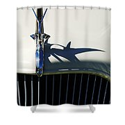 1934 Terraplane Coupe Hood Ornament Shower Curtain