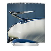 1935 Auburn Hood Ornament 3 Shower Curtain