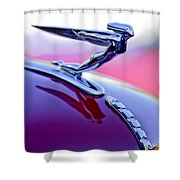 1935 Auburn Hood Ornament 4 Shower Curtain