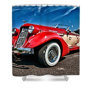 1935 Auburn Speedster 6895 Shower Curtain