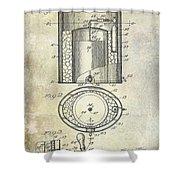 1935 Beer Equipment Patent  Shower Curtain