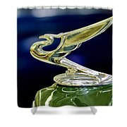1935 Chevrolet Hood Ornament Shower Curtain
