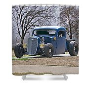 1935 Chevrolet 'hot Rod' Pickup Shower Curtain