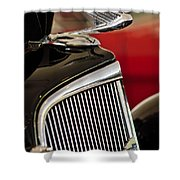 1935 Chevrolet Optional Eagle Hood Ornament Shower Curtain