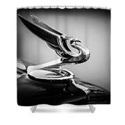 1935 Chevrolet Sedan Hood Ornament -0116bw Shower Curtain