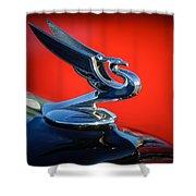 1935 Chevrolet Sedan Hood Ornament -0116c Shower Curtain