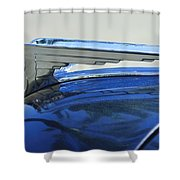 1935 Chrysler Hood Ornament Shower Curtain