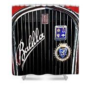 1935 Fiat Balilla Sport Spider Grille Shower Curtain