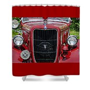 1935 Ford Seagrave Shower Curtain