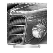 1935 Ford Sedan Grill Shower Curtain