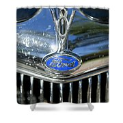 1935 Ford V8 Hood Ornament 2 Shower Curtain
