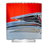 1935 Ford V8 Hood Ornament 3 Shower Curtain